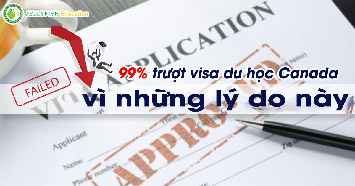 Lý do trượt visa Du học Canada