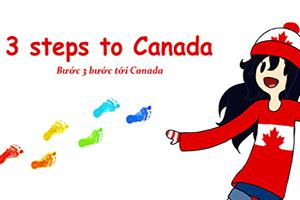 3 bước để tới Canada