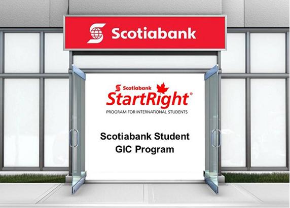 Du học Canada - Scotia Bank GIC