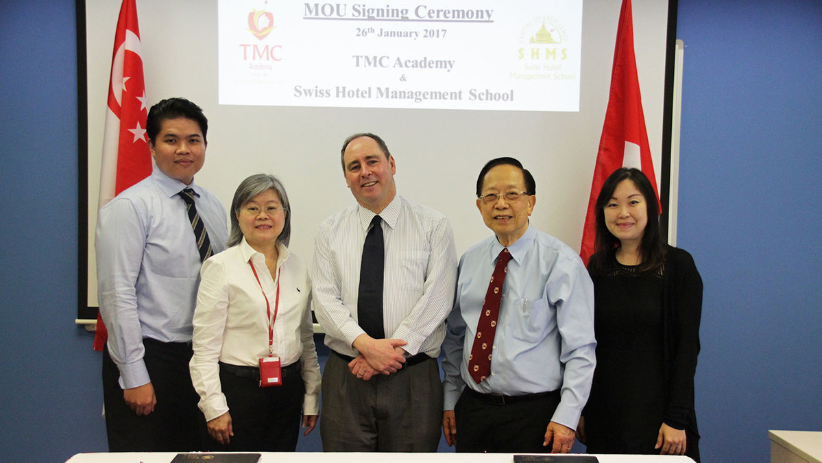 Lễ ký kết hợp tác giữa TMC Academy và Swiss Hotel Management School