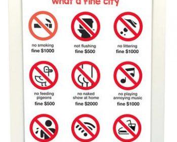 quy định phạt tại singapore
